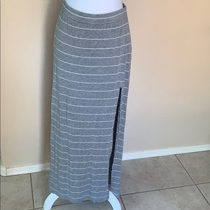 AEO stripped maxi skirt with slit